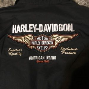 Harley-Davidson women's small button up top